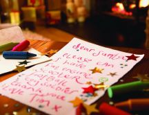 Letter to Santa Claus from a good kid HD wallpaper