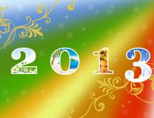 Happy New Year 2013 - Four season HD wallpaper