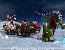 Santa's last minute delivery team - HD wallpaper