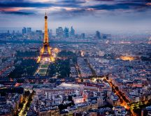Landscape - Paris night view HD wallpaper