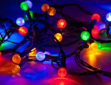 Colored lights for Christmas tree