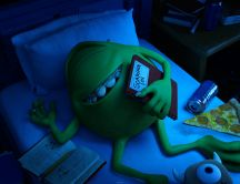 Mike Wazowski sleeping - Monsters University 2013