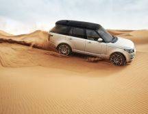 Land Rover in the desert - new car in 2013