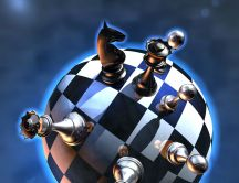 The chess conquered the world - HD wallpaper