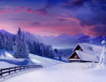 Wonderful time - great view - winter landscape