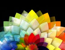 Abstract colorful crystal flower