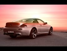 BMW M6 at sunset HD wallpaper