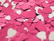 Love is in the air - lots of pink and white hearts