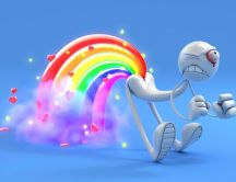Rainbow from a funny toy HD wallpaper