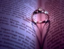 Ring from a book - symbol of love