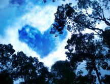 The symbol of love on the sky - cloud love