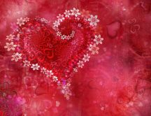 Beautiful Valentine's Day wallpaper - hearts and flowers