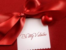 Red ribbon - Be my Valentine