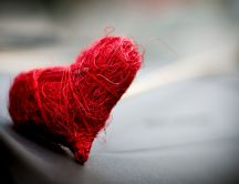 Heart - love in a ball of thread