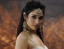 Scene from a movie with a beautiful indian actress - Tamanna