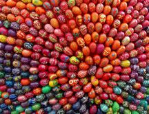 Hundreds of painted eggs for Easter Holiday - HD wallpaper