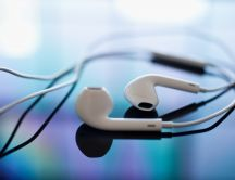 New design for apple headphones - HD wallpaper