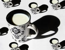 Perfect drink - a cup of hot milk