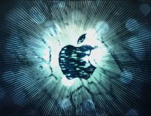 Apple create from lights - glitches - HD wallpaper