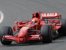 Formula 1 - Michael Schumacher in a Ferrari red car
