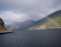 Rainbow in Norway - HD wallpaper