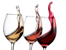 White, pink or red - delicious glass of wine