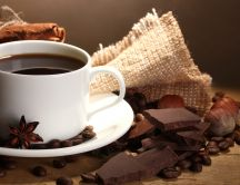 Good morning - coffee and chocolate