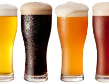 Four types of beer - delicious drink