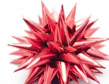 3D abstract ball - red hedgehog