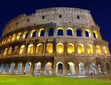 Coliseum in the night - beautiful architecture