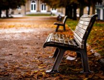A bench with love stories - HD wallpaper