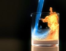 Magic in a glass - water and fire