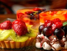 Delicious fruit tarts - sweet season