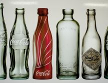 Different type of Coca-Cola bottels
