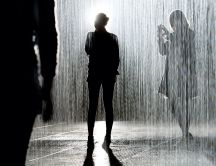 Artistic photo - people in the rain