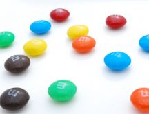 Random candies - delicious m&m's