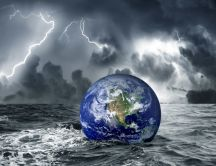 Earth is in great danger - great storm at sea