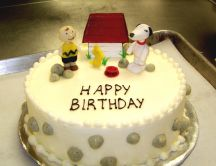 Cute Snoopy cake - happy birthday