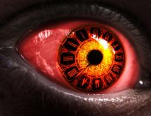 Big red eye - clock eye