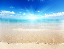 Sunny days at the seaside - HD wallpaper
