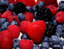 Strawberries, blueberries and blackberries - delights
