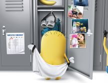 Funny minions in the locker room - Despicable me