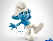 Clumsy smurf - blue movie in 2013