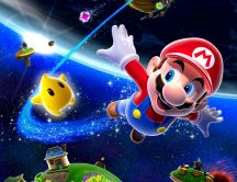 Super Mario in space - the most beautiful childhood game