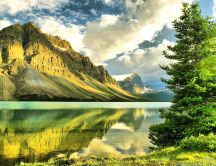 Amazing nature landscape - mirror water lake