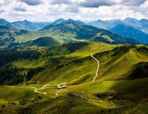 Beautiful nature landscape - mountain route
