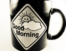 Sun through the clouds - enjoy a good coffee in the morning