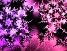 Abstract colorful background - pink and purple leaves