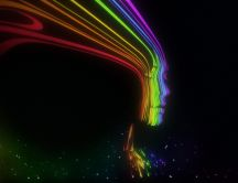 Beautiful digital art - rainbow face - abstract wallpaper