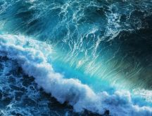 Big wave create big water foam - wonderful HD wallpaper
